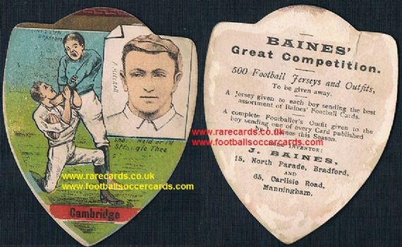 1900 LEGEND  Frank Mitchell Captain South Africa cricket also rugby player of note Baines card
